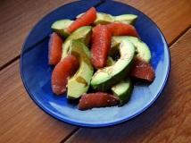 Avocado- och grapesallad