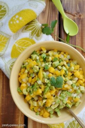 Mango- och avocadosalsa