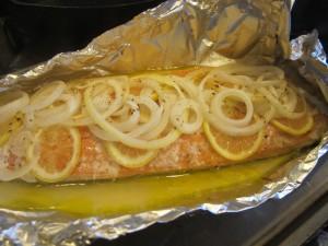 Ugnsstekt fisk med citron