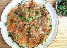 Koreansk skaldjurspannkaka