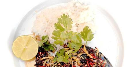 Stekt makrill med vitlök och ingefära