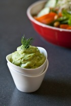 Avocado, citron och dilldressing