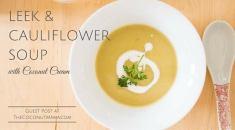 Blomkåls och purjulökssoppa