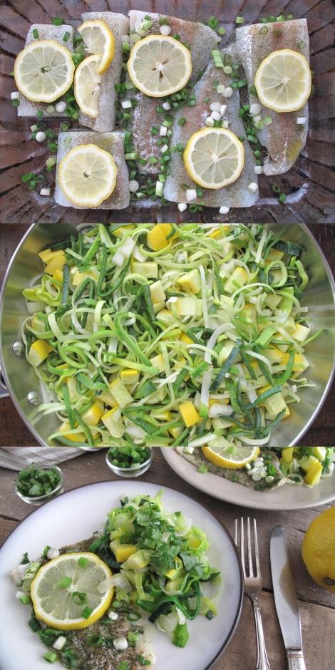 Ugnsstekt torsk med vårgrönsaker